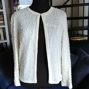 Vintage Faux Pearl Beaded Evening Jacket